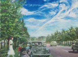 Afbeelding behorende bij Kunst langs de weg   8 Rhedense kunstenaars verbeelden markante plekken en gebeurtenissen