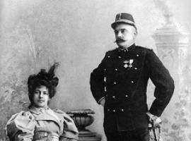 Afbeelding behorende bij Theaterstuk rond Mata Hari | De schaduw van Mata-Hari, Non en haar vader