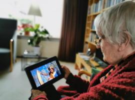 Afbeelding behorende bij Online harpconcert voor ouderen in zorginstellingen |