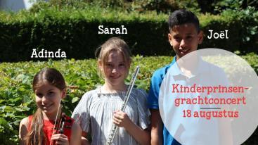 Afbeelding behorende bij Sarah van der Lijke, speelt tijdens het Kinderprinsengrachtconcert. | Talent uit De Steeg